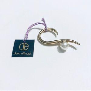 Dara Ettinger Pearl and Gold Ring